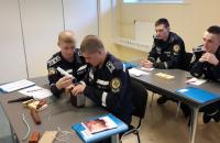 Курсанти Університету продовжують проходити базовий курс розмінування на базі школи рятувальників у м.Вяйке-Марья Естонської Республіки
