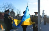 Представники Університету взяли участь в урочистому церемоніалі підняття Державного Прапора України
