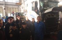 Слухачі 4-го курсу спеціальності «Транспортні технології» провели позапланове практичне заняття на базі станції технічного обслуговування VOLVO TRUCKS SERVICE