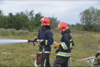 Третій день навчань: пожежний танк,  ДТП,  підведення підсумків та урочисте закриття Міжнародних польових навчань EU-CHEM-REACT