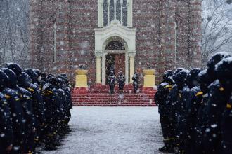 Курсанти Університету долучились до Загальнонаціональної хвилини мовчання та громадської акції «Запали свічку пам'яті»