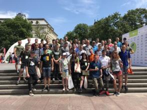 Курсанти та студенти університету взяли участь у організації бігової події року у Львові - 3rd MOLOKIYA LVIV HALF MARATHON 2018