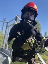 Курсанти 4-го курсу Інституту пожежної та техногенної безпеки вдосконалюють  практичні навики з організації гасіння пожеж у цивільних будівлях