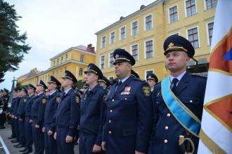 Ректорат Університету взяв участь у військовому марші та в урочистостях з нагоди Дня Державного Прапора України